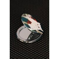 Hediyeliksepeti Beyaz Kedi Figürlü Cep Aynası Ayn153