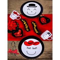 Keramika 10 Parça 2 Kişilik Ege Kahvaltı Takımı Gülen Yüz