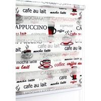 Buperde Cappuccino Siyah-Kırmızı Baskılı Zebra Perde