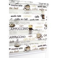 Buperde Cappuccino Kahve-Krem Baskılı Zebra Perde