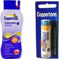Coppertone Sunscreen Lotion Spf 45+ 200 Ml + Lipbalm