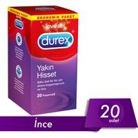 Durex Yakın Hisset (İnce Prezervatif) 20'li Avantaj Paketi