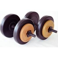 Spor724 26 Kg. Ağırlık Dambıl Bar Plaka Seti Kondisyon Gym Fitness Spor Aleti PAS26K