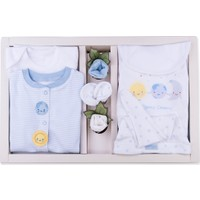 Kitikate Organik Dreams Tulumlu Bebek 10'lu Zıbın Seti - Mavi