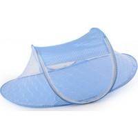 Toptancı Kapında Katlanabilir Bebek Sineklik Koruyucu Cibinlik - Mavi