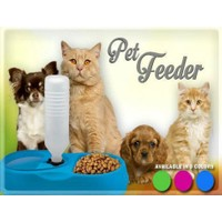 Toptancı Kapında FinePet Kedi ve Köpek İçin Otomatik Su ve Mama Kabı