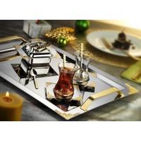 İslamoğlu Hürrem Çay Tepsisi (Gold)