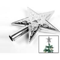 Toptancı Kapında Yılbaşı Ağacı Tepe Yıldızı Süs