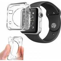 Alaca Apple Watch 42 Mm Kılıf Ultra İnce Silikon Tpu + Kırılmaz Cam