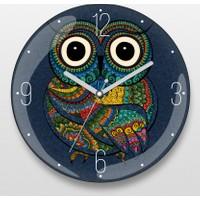 Küçük Güzel Baykuş Duvar Saati
