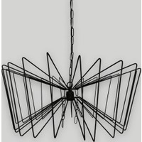 Klite Wire Wide60 Avize - Siyah