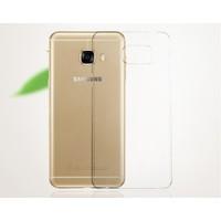 Case 4U Almus Samsung Galaxy C9 Pro Şeffaf Sert Arka Kapak + Type-C Şarj Konnektörü