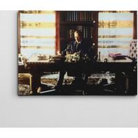 Dekolata Atatürk Çalışma Masasında Kanvas Tablo