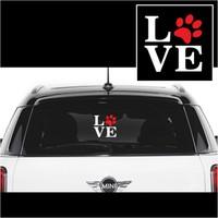 Otografik - Love Pati Oto Sticker Beyaz 10X10Cm