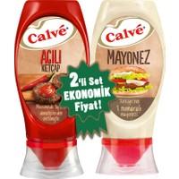 Calve Acılı Ketçap & Mayonez Büyük Set 975 g