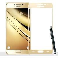 CoverZone Samsung J7 Prime Full Kaplayan 3d Renkli Tempered Koruyucu + Dokunmatik Kalem