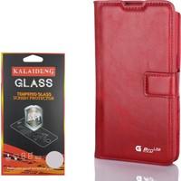 Gpack LG G Pro Lite Kılıf Standlı Serenity Cüzdan +Kırılmaz Cam