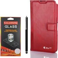 Gpack LG G Pro Lite Kılıf Standlı Serenity Cüzdan +Kalem +Kırılmaz Cam