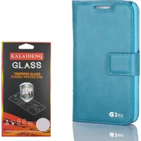 Gpack LG G2 Mini Kılıf Standlı Serenity Cüzdan +Kırılmaz Cam