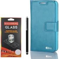 Gpack LG G2 Mini Kılıf Standlı Serenity Cüzdan +Kalem +Kırılmaz Cam