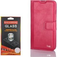 Gpack LG L90 Kılıf Standlı Serenity Cüzdan +Kırılmaz Cam