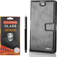 Gpack Casper Via V3 Kılıf Standlı Serenity Cüzdan +Kalem +Kırılmaz Cam