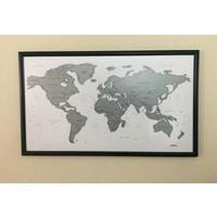 Mapofx Gez-Kazı Haritalar - Kazınabilir Harita Çerçeveli - Scratch Map