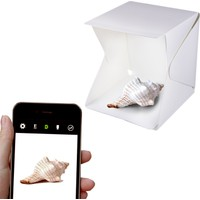 Navigasyon Katlanabilir Led Işıklı Ürün Fotoğrafı Çekim Kutusu + 4 Adet Renkli Fon