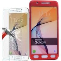 KılıfShop Samsung Galaxy J7 Prime 360° Tam Koruma Kılıf + Kırılmaz Ekran Koruyucu