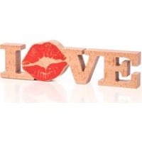 Purupa Love Öpücük Ahşap Obje