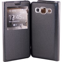 Sunix X-Cover Samsung Galaxy On5 Kapaklı Kılıf + Kırılmaz Cam Jelatin