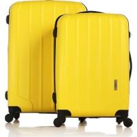 Esta Rubon Sarı 2'li Valiz Seti Orta + Büyük Boy