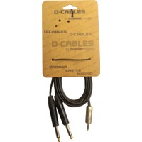 D-Cable Pcm-2 3M 3,5 Stereo To 2 X 6,3 Mono Kablo