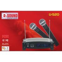 D-Sound U-520 Çift El Telsiz Mikrofon