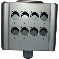 D-Sound Stagebox 8 Kanal Alüminyum Boş Kutu Stgpro-8
