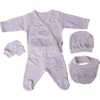 Baby Center 45212 Dantelli Tavşanlı Hastane Çıkış Seti 5'li