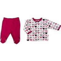 Baby Center S84020 Ayı Kafalı 2'li Çıtçıtlı Bebek Takım