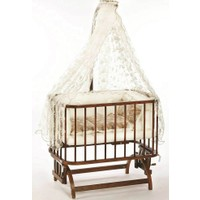 Baby Tech 101 Anne Yanı Bebek Beşiği Ceviz