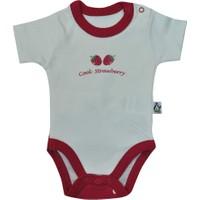 Babycool 2208 Kısa Kol Bebek Body Çilek Baskılı