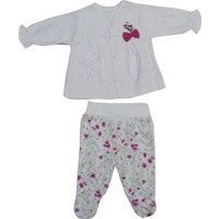 Bebetto F835 Carnation Penye Mini Bebek Pijama Takımı