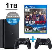 Playstation 4 Slim 1TB + 2. Kol + Pes 17 (İthalatçı Garantili)