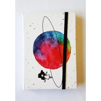 Köstebek Saturn Üstünde Yürüyen Kız Defter