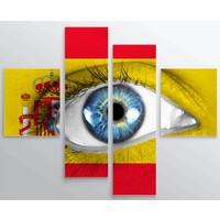 Artredgallery Ülkeler 4 Parçalı Tablo