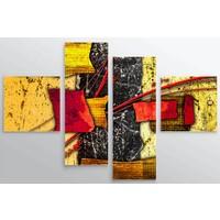 Artredgallery Ünlü Ressamlar 4 Parçalı Tablo