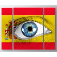 Artredgallery Ülkeler 3 Parçalı Tablo