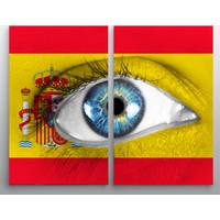 Artredgallery Ülkeler 2 Parçalı Tablo
