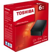 Toshiba Canvio Dekstop 3.5'' 6TB USB 3.0 Siyah Hard Disk