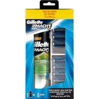 Gillette Mach3 Turbo Yedek Tıraş Bıçağı 8'Li (200 Ml Tıraş Jeli Hediyeli!)