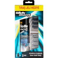 Gillette Mach3 Yedek Tıraş Bıçağı 8'Li (200 Ml Tıraş Jeli Hediyeli!)