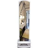 First Mobilya Lale Çekmeceli Boy Aynası / Beyaz